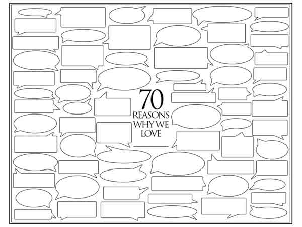 70 reasons why we love you template