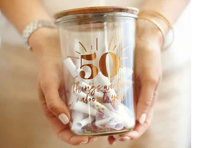 jar of 70 reasons why we love you