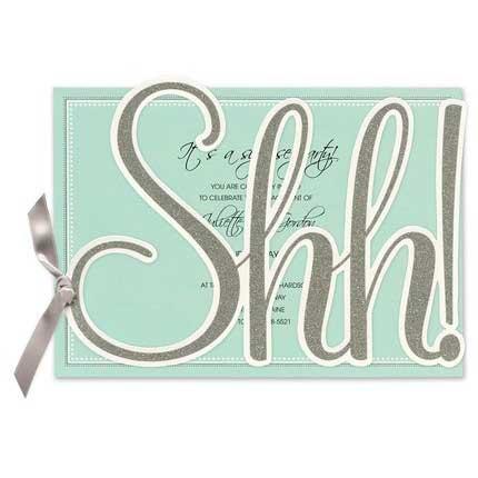 shh! surprise 70th birthday invitation