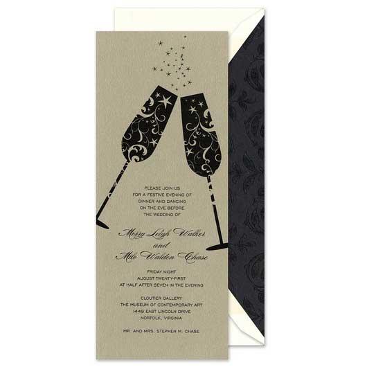 champagne glasses invitation