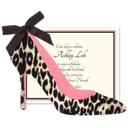 leopard print high heels invitation