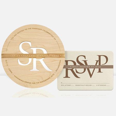 engraved wood invitations