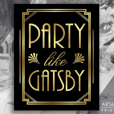 party like gatsby printable sign