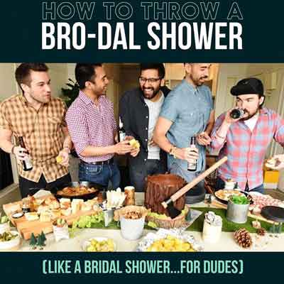 How to throw a bro-dal shower for dudes