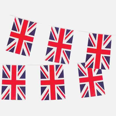 British flag party decorations