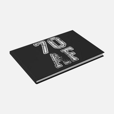 70 AF guest book