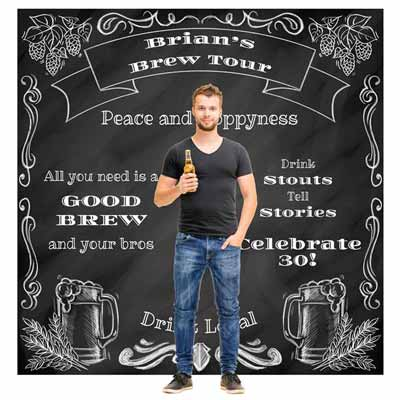Beers to You custom backdrop