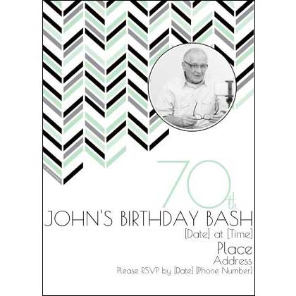 Best 70th Ever invitations