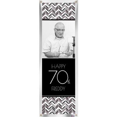 Best Day Ever 70th birthday custom banner