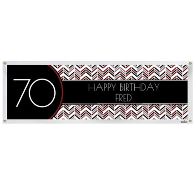 Best Day Ever 70th birthday banner