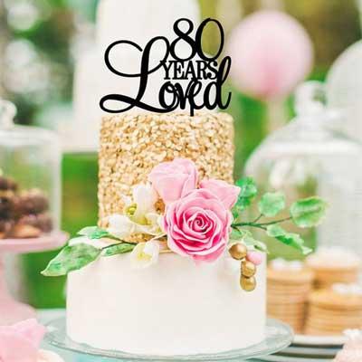 80th birthday cake topper