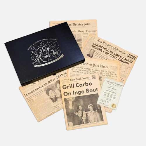 Historical Birthday Newspapers