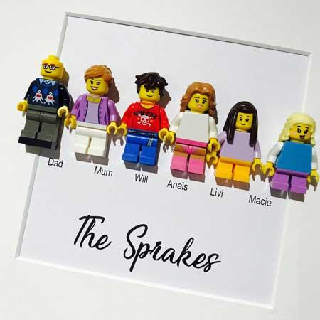 Personalized Lego Family Box Frames