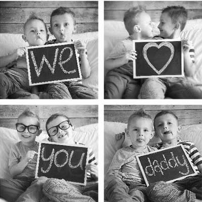 we love you daddy photo collage