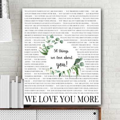 reasons we love you custom artwork