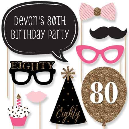 birthday party photobooth props