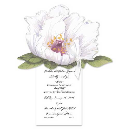 illustrated flowers invitation