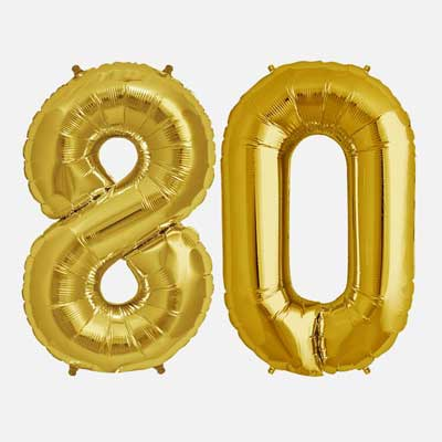 Cheers and Beers to 80 years balloons