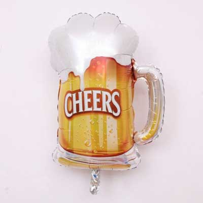 cheers and beers balloons