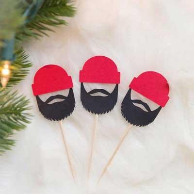 lumberjack cupcake toppers