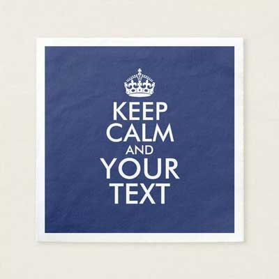 Custom Keep Calm paper napkins