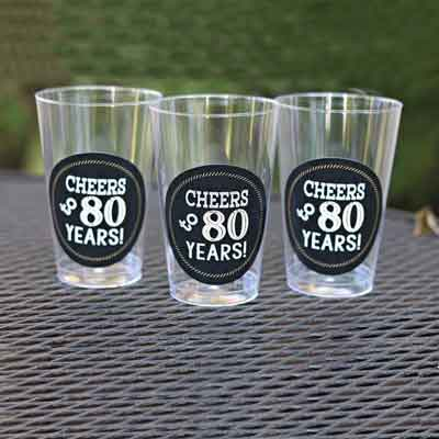 Cheers to 80 years water labels