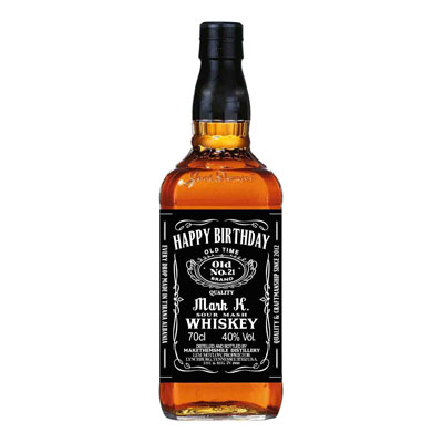 personalized Jack Daniels whiskey bottle labels