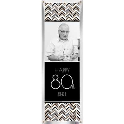 Best Day Ever 80th birthday custom banner