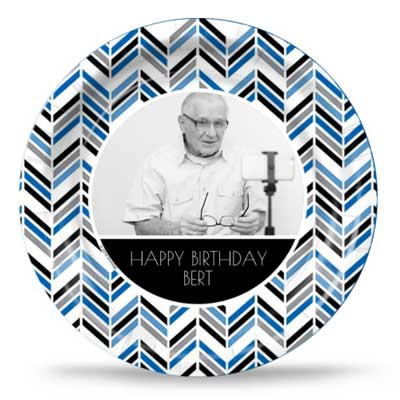 Best Day Ever 80th birthday custom party plates