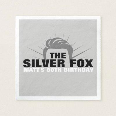 The Silver Fox paper napkins