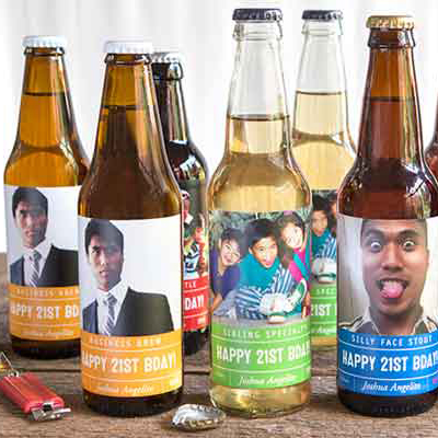 personalized bottle labels