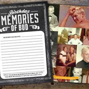 birthday memories card