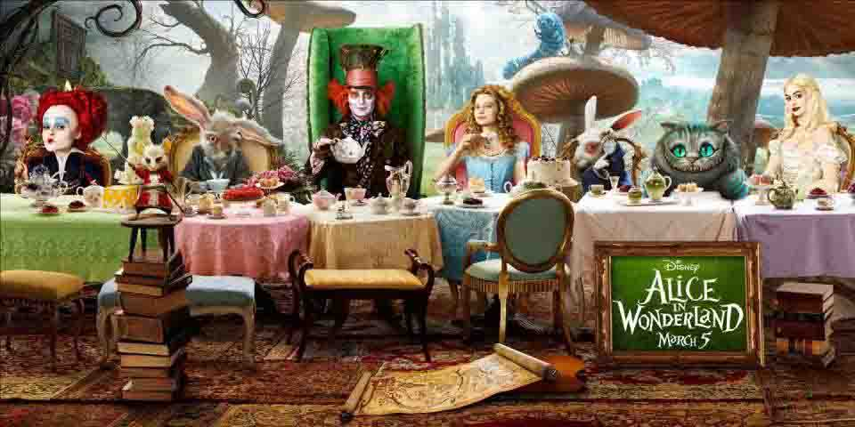 alice in wonderland mad hatter's tea party