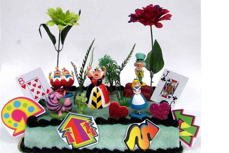 Alice in Wonderland cake topper