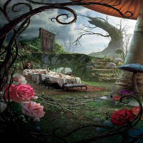 alice in wonderland photo backdrop