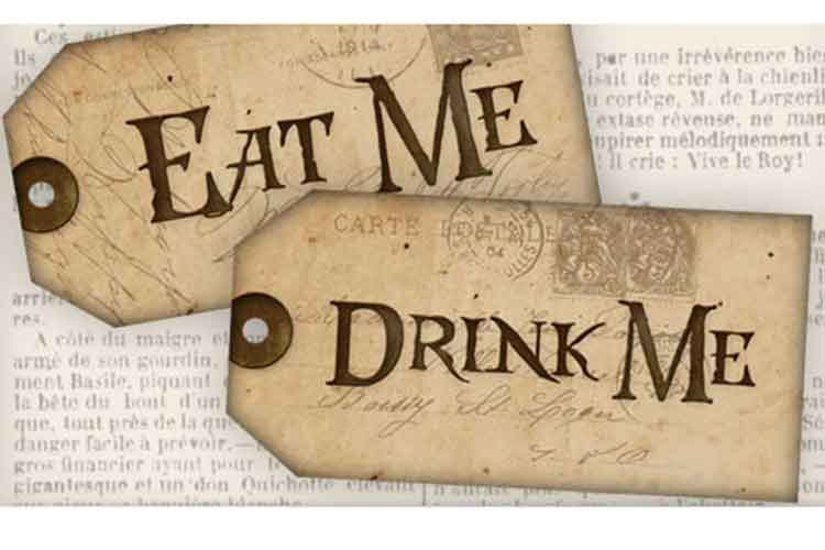 eat me drink me tags