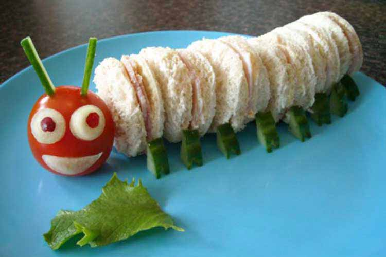 caterpillar sandwhiches