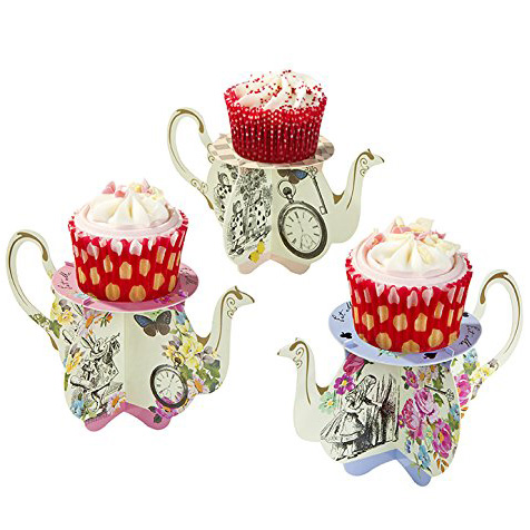 alice in wonderland cupcake stands