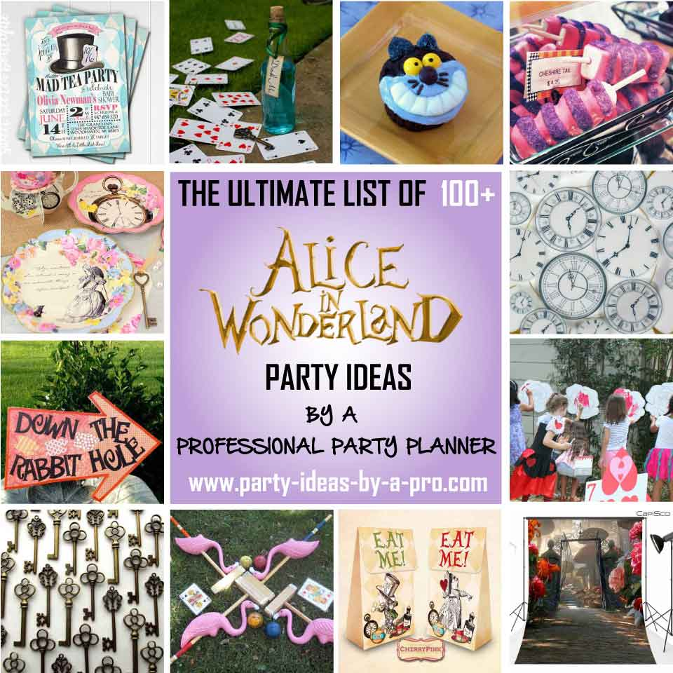 Mad hatter tea party decoration ideas - Alice In Wonderland Party Ideas