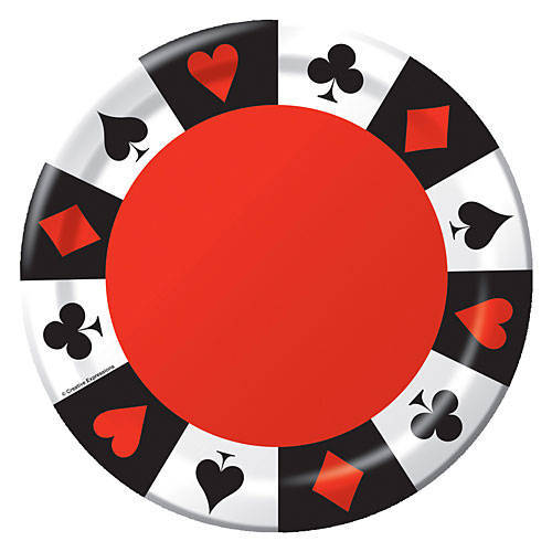 playing card suit party plates