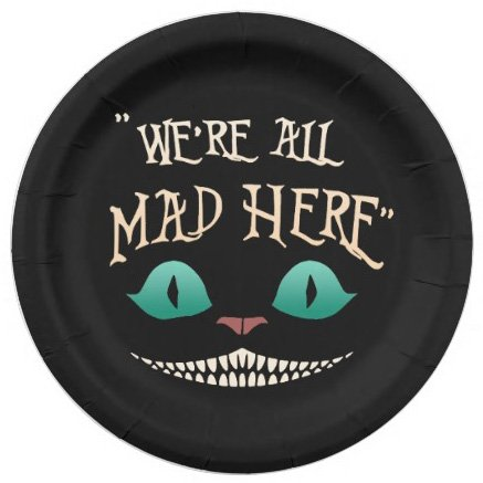 cheshire cat party plates