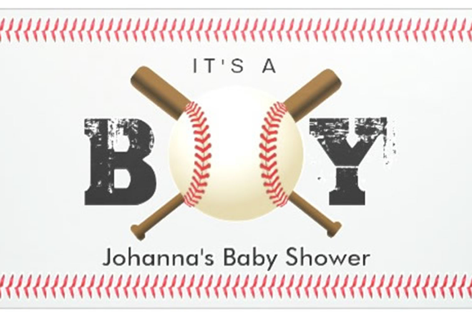 baseball personalized banner