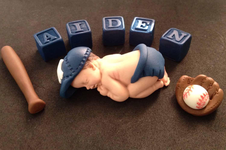 baseball cake topper