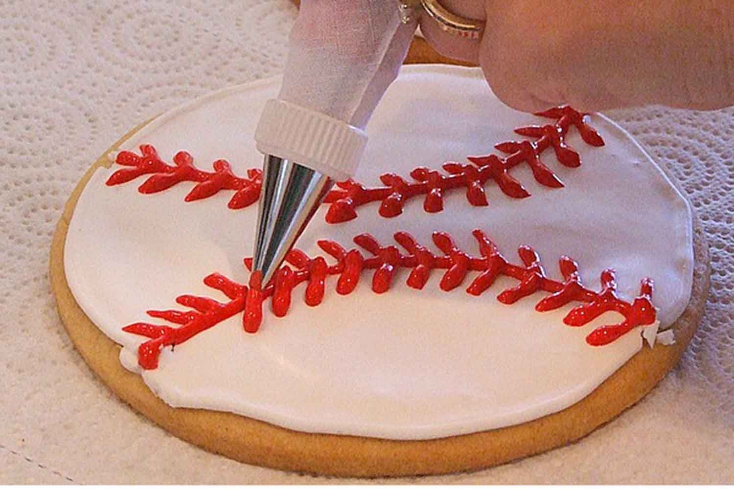 baseball cookie tutorial