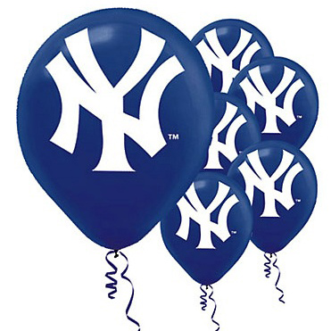baseball team balloons