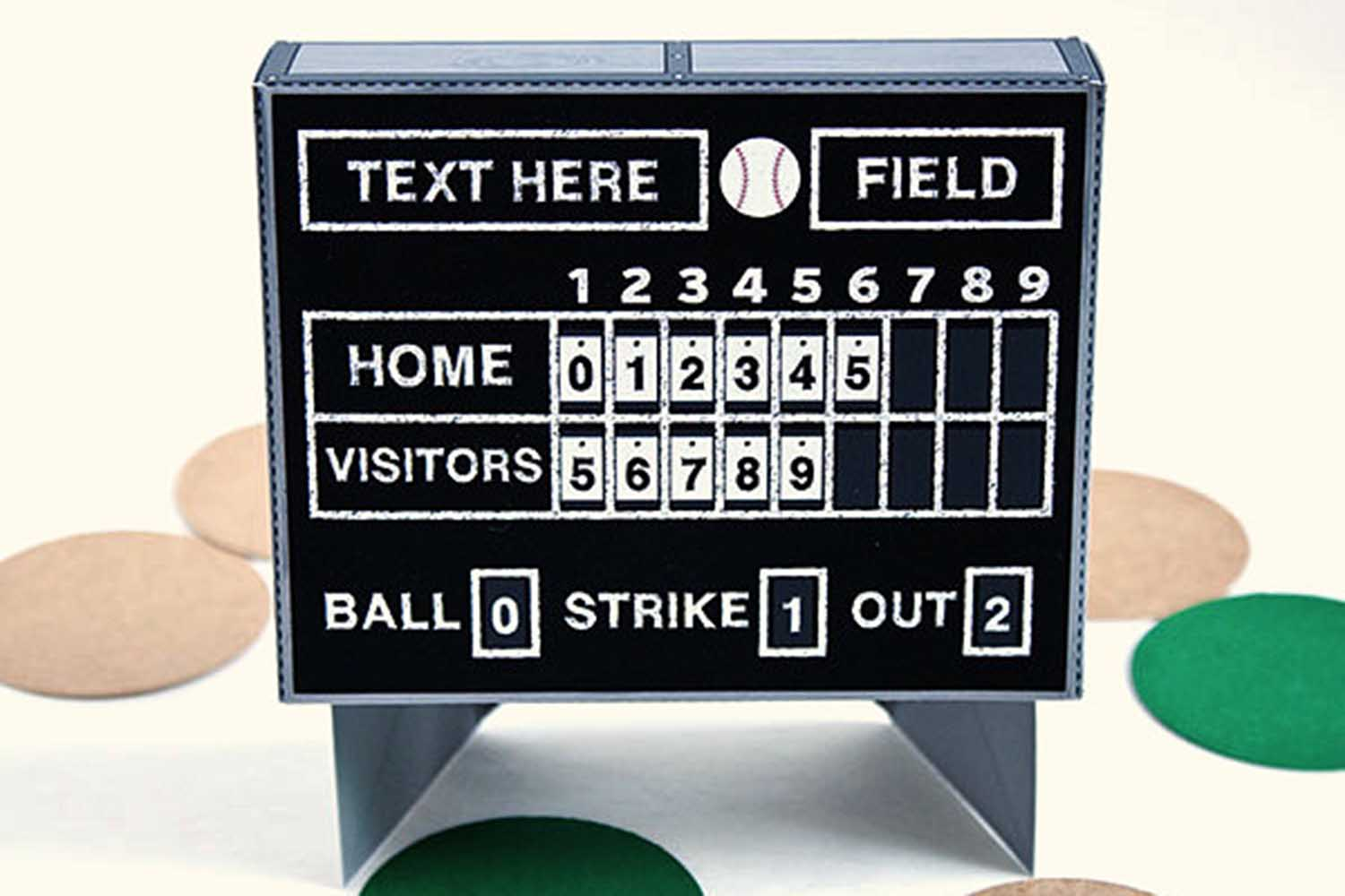 baseball scoreboard party favor box