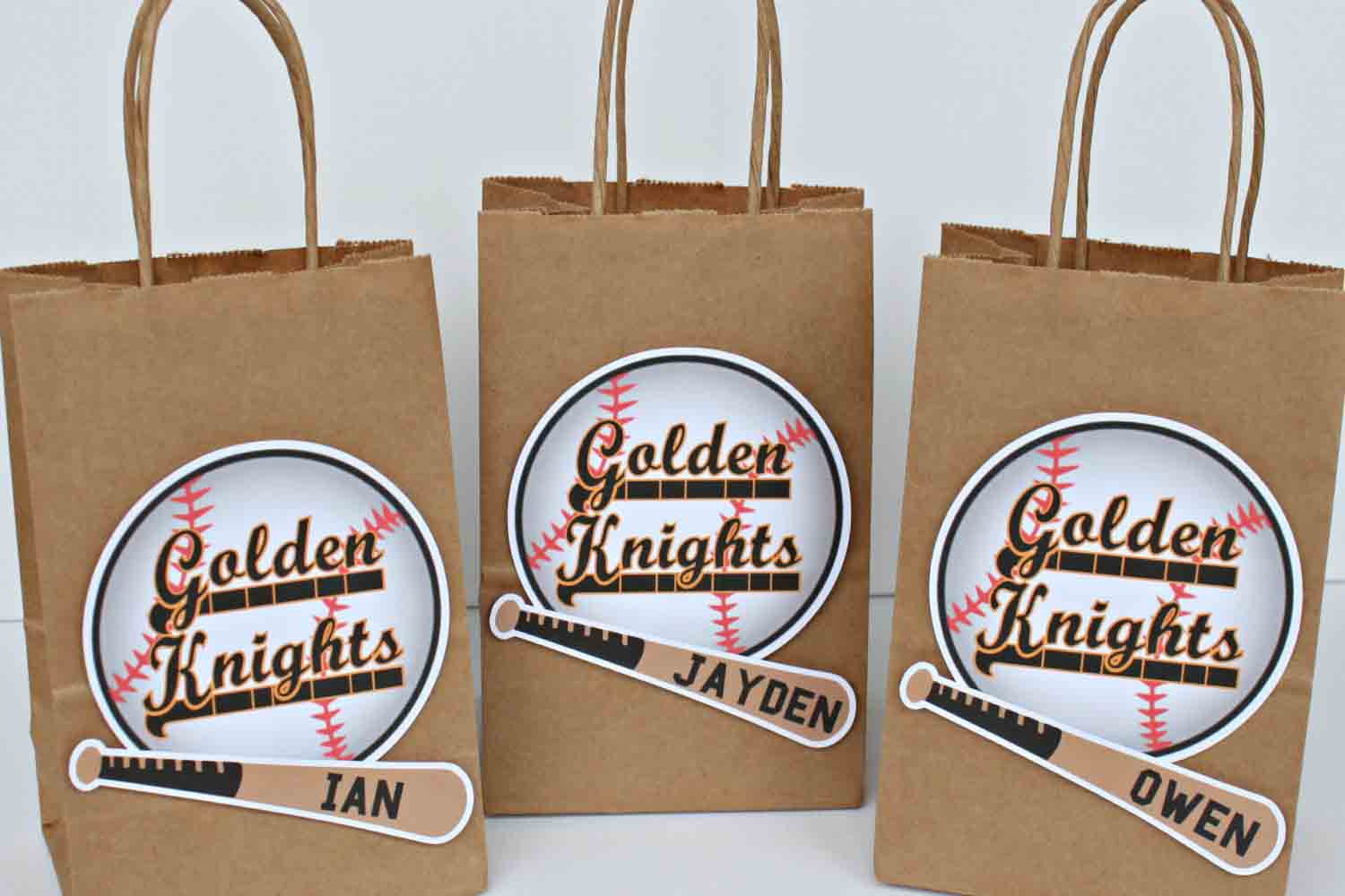 baseball party favor bags