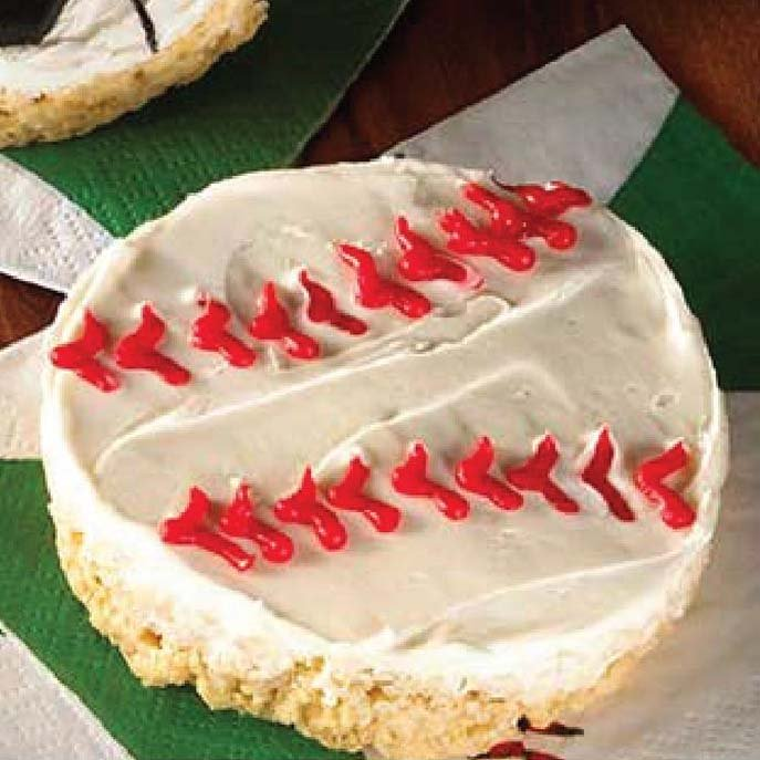 baseball rice krispie treats