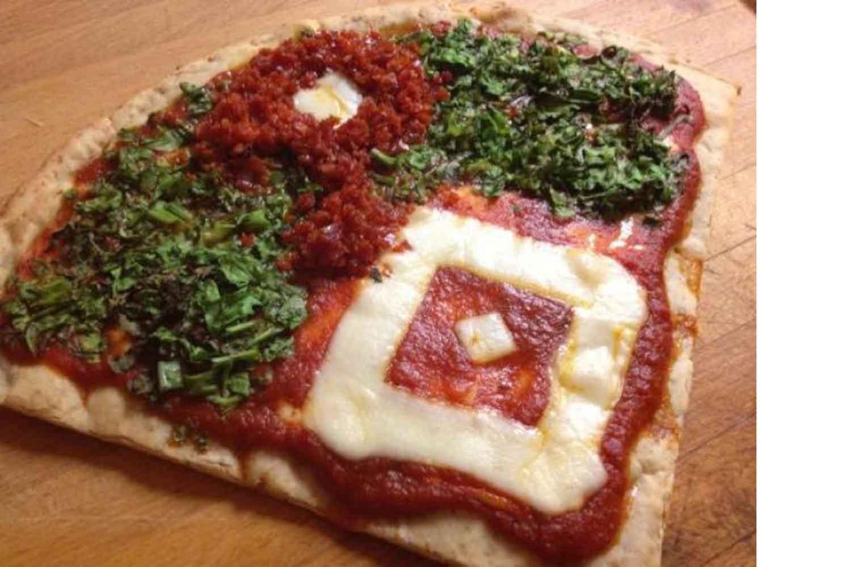 baseball pizza