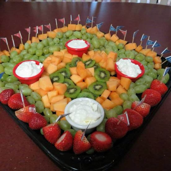 baseball fruit platter